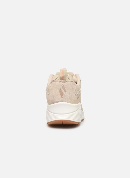 Baskets Skechers Uno Two For The Show Beige vue droite