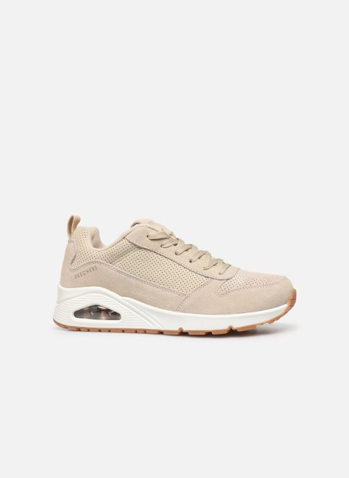 Sneakers Skechers Uno Two For The Show Beige achterkant