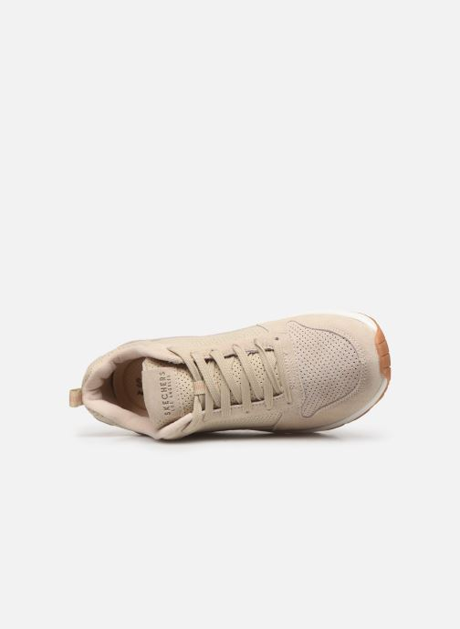 Baskets Skechers Uno Two For The Show Beige vue gauche