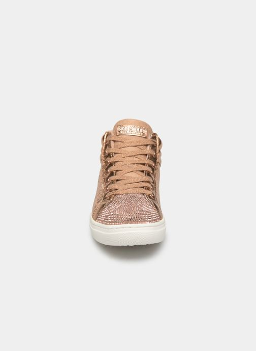 Trainers Skechers Goldie Starling Bronze and Gold model view