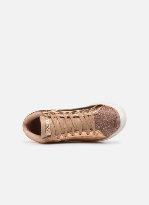 Trainers Skechers Goldie Starling Bronze and Gold view from the left