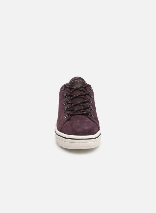 Baskets Skechers Street Cleats 2 Violet vue portées chaussures