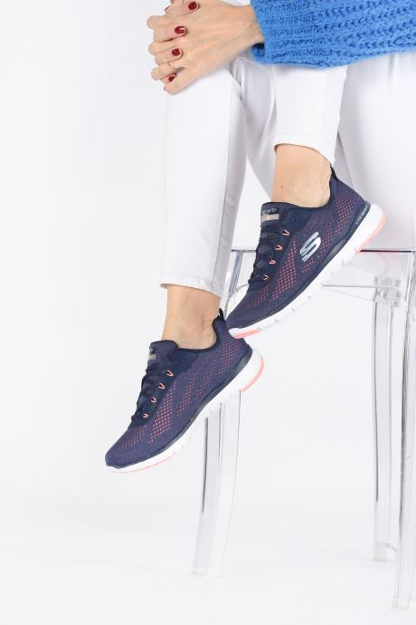 Chaussures de sport Skechers Flex Appeal 3.0 Breezin' Kicks Bleu vue bas / vue portée sac