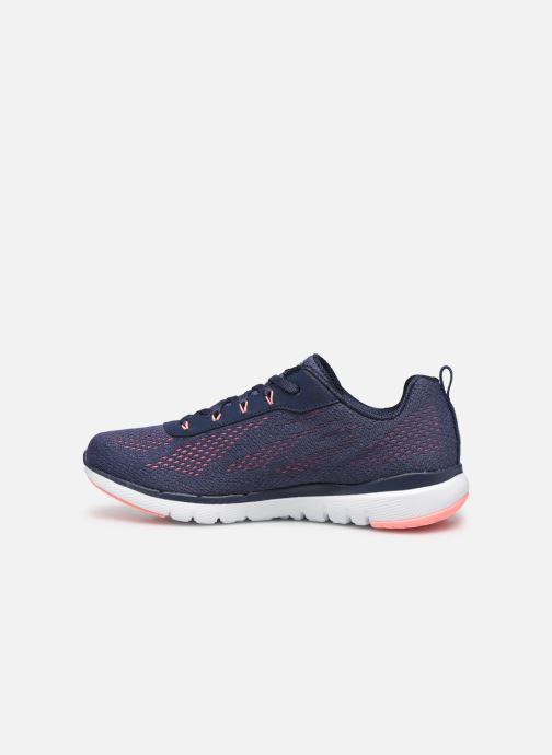 Chaussures de sport Skechers Flex Appeal 3.0 Breezin' Kicks Bleu vue face