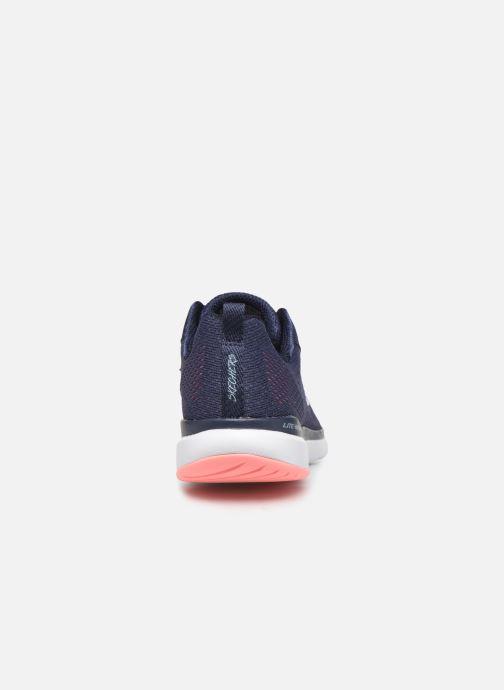 Chaussures de sport Skechers Flex Appeal 3.0 Breezin' Kicks Bleu vue droite