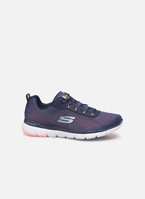 Chaussures de sport Skechers Flex Appeal 3.0 Breezin' Kicks Bleu vue derrière