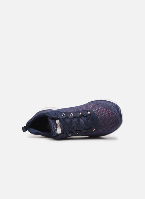 Sportssko Skechers Flex Appeal 3.0 Breezin' Kicks Blå se fra venstre