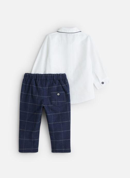 Vêtements Absorba Ensemble Chemise Pantalon Jacquard Blanc vue bas / vue portée sac