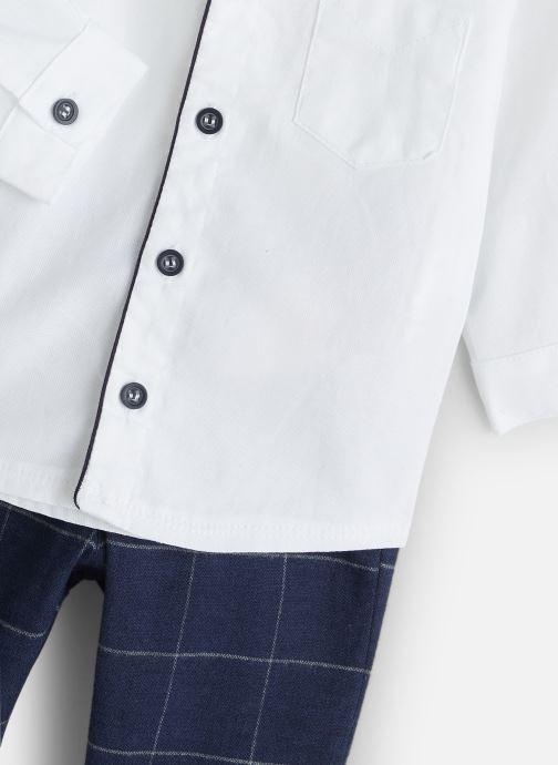 Vêtements Absorba Ensemble Chemise Pantalon Jacquard Blanc vue portées chaussures