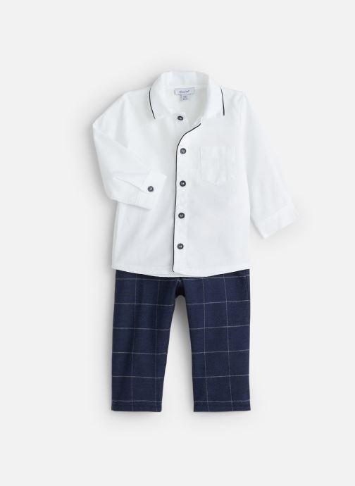 Vêtements Absorba Ensemble Chemise Pantalon Jacquard Blanc vue détail/paire