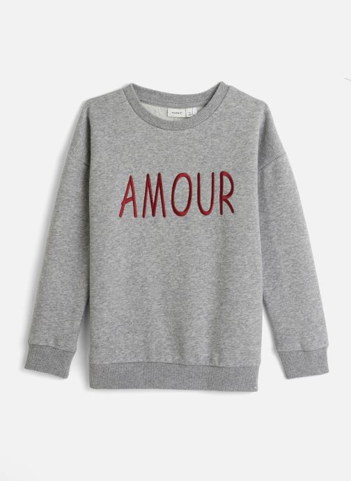 Vêtements Name it Sweatshirt Nkfnashina Ls Sweat Bru Gris vue détail/paire