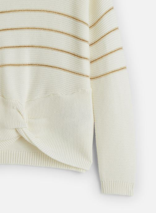 Vêtements Name it Pull Nkfobali Ls Knit Blanc vue portées chaussures