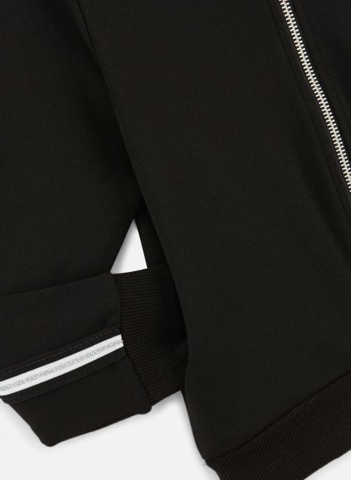 Vêtements Name it Sweatshirt Nkflornelia Ls Card Wh Noir vue portées chaussures