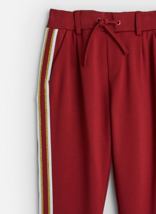 Vêtements Name it Pantalon Casual Nkfnansy Ida Pant W. Tape Normal Rouge vue portées chaussures