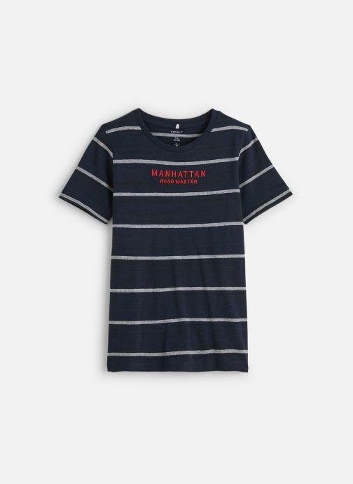 Vêtements Name it T-Shirt Nkmknut Ss Top Box Bleu vue détail/paire