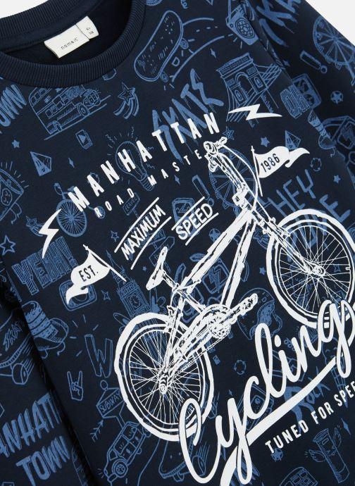 Vêtements Name it Sweatshirt Nkmkriss Ls Sweat Unb Box Bleu vue portées chaussures