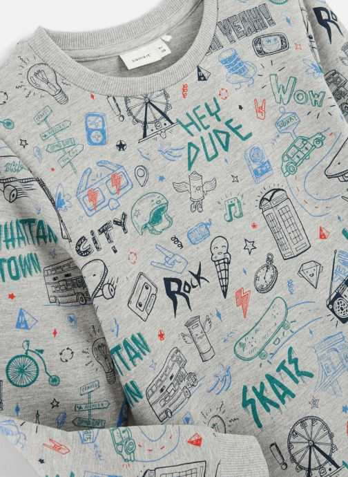 Kleding Name it Sweatshirt Nkmkriss Ls Sweat Unb Box Grijs model