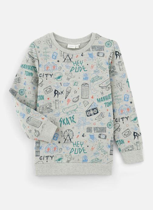 Vêtements Name it Sweatshirt Nkmkriss Ls Sweat Unb Box Gris vue détail/paire