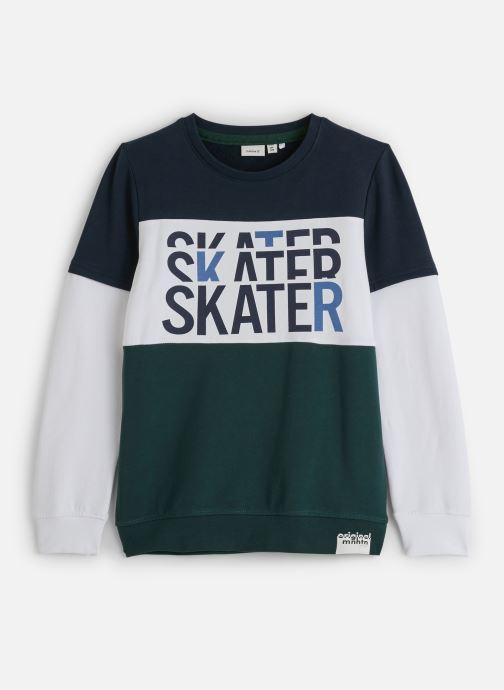 Vêtements Name it Sweatshirt Nkmlomar Ls Sweat Box Bru Vert vue détail/paire