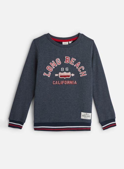 Vêtements Name it Sweatshirt Nkmncazzad Sweat Bru Bleu vue détail/paire