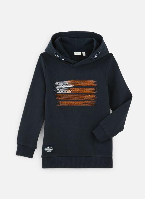 Vêtements Name it Sweatshirt Hoodie Nkmopilo Ls Sweat Wh Bru Bleu vue détail/paire