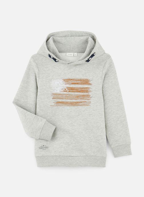 Vêtements Name it Sweatshirt Hoodie Nkmopilo Ls Sweat Wh Bru Gris vue détail/paire