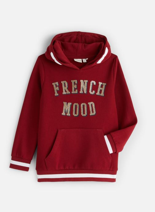 Vêtements Name it Sweatshirt Hoodie Nkfnabella Ls Swe W Hood Bru Rouge vue détail/paire