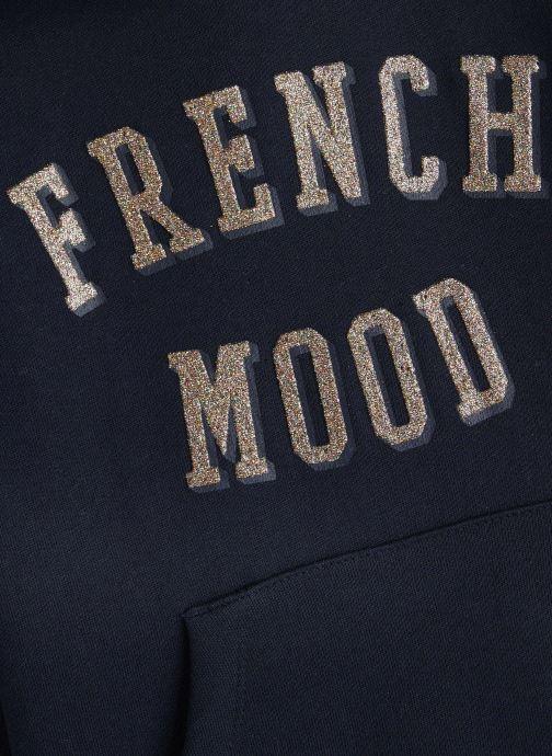 Vêtements Name it Sweatshirt Hoodie Nkfnabella Ls Swe W Hood Bru Bleu vue portées chaussures