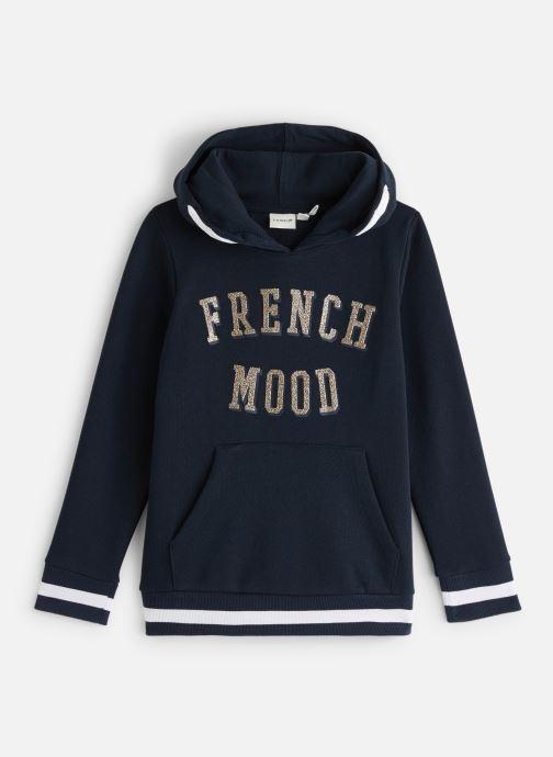 Vêtements Name it Sweatshirt Hoodie Nkfnabella Ls Swe W Hood Bru Bleu vue détail/paire
