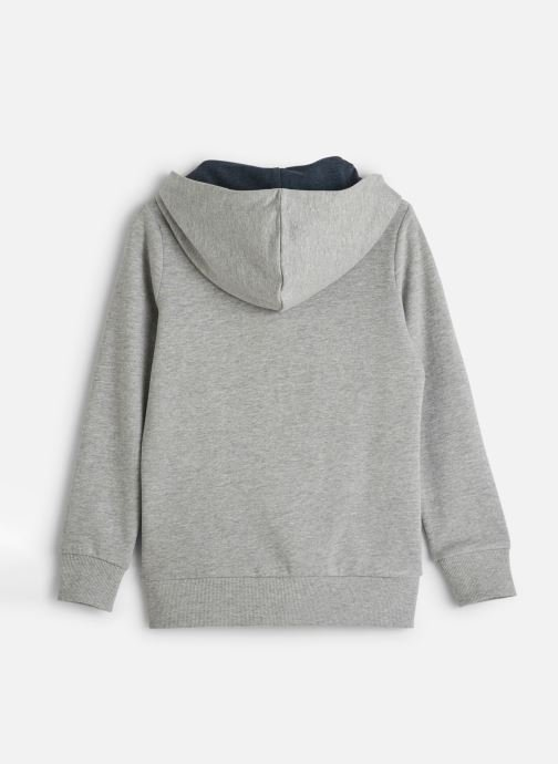 Vêtements Name it Sweatshirt Hoodie Nkmnelisha Sweat Card W Hood Bru Gris vue bas / vue portée sac