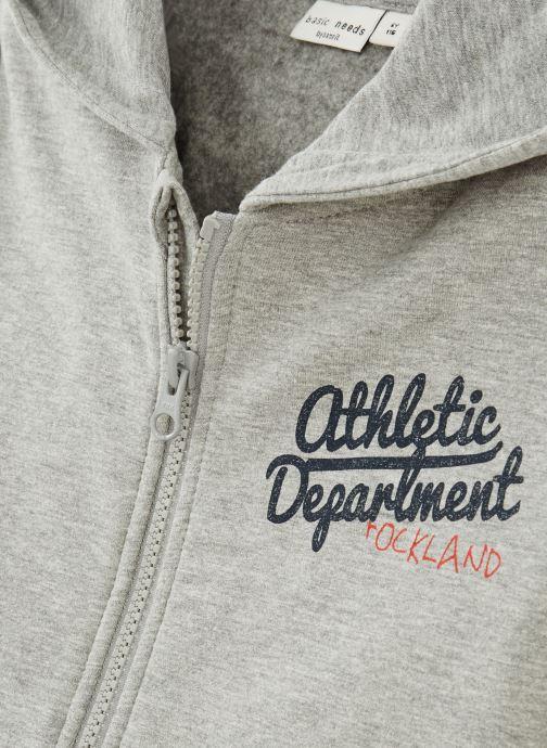 Vêtements Name it Sweatshirt Hoodie Nkmvoltano Swe Card Bru Ll Gris vue portées chaussures