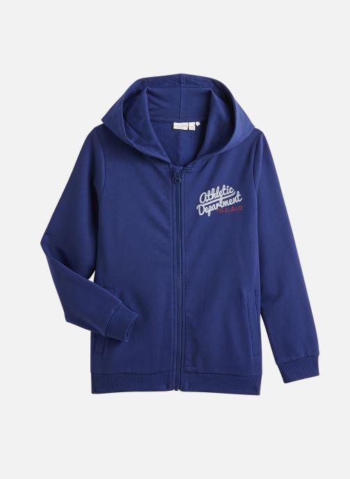 Vêtements Name it Sweatshirt Hoodie Nkmvoltano Swe Card Bru Ll Bleu vue détail/paire