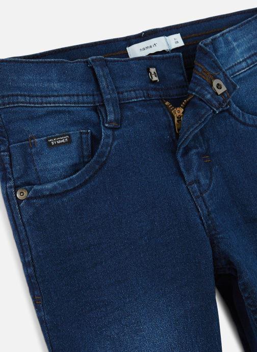 Vêtements Name it Jean Droit Nkmsilas Dnmcore Pant Camp J Bleu vue portées chaussures