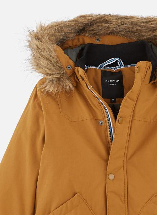 Vêtements Name it Manteau Caban Duffle Coat Nkmmalien Jacket Noos Jaune vue portées chaussures