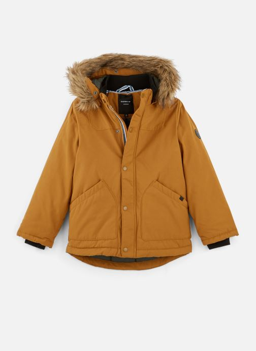 Vêtements Name it Manteau Caban Duffle Coat Nkmmalien Jacket Noos Jaune vue détail/paire