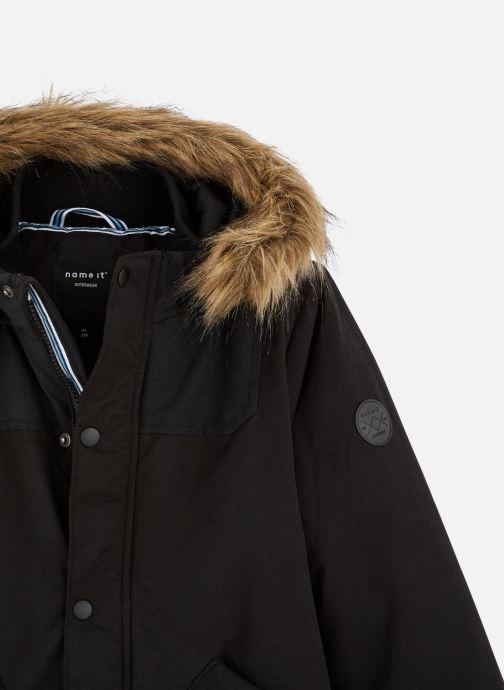 Vêtements Name it Manteau Caban Duffle Coat Nkmmalien Jacket Noos Noir vue portées chaussures