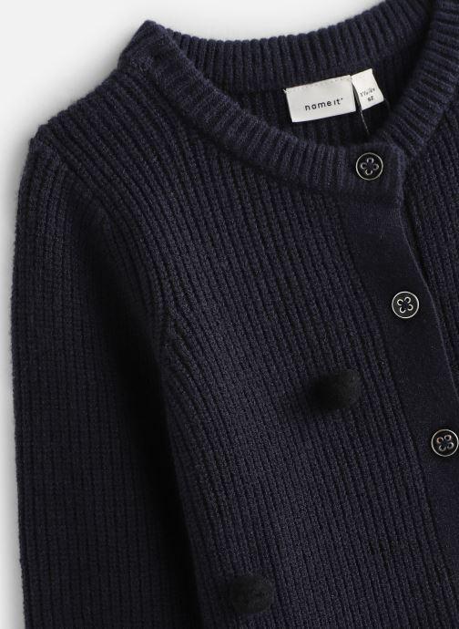Vêtements Name it Gilet Nmfluga Ls Knit Card Bleu vue portées chaussures