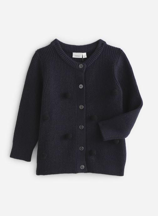 Vêtements Name it Gilet Nmfluga Ls Knit Card Bleu vue détail/paire