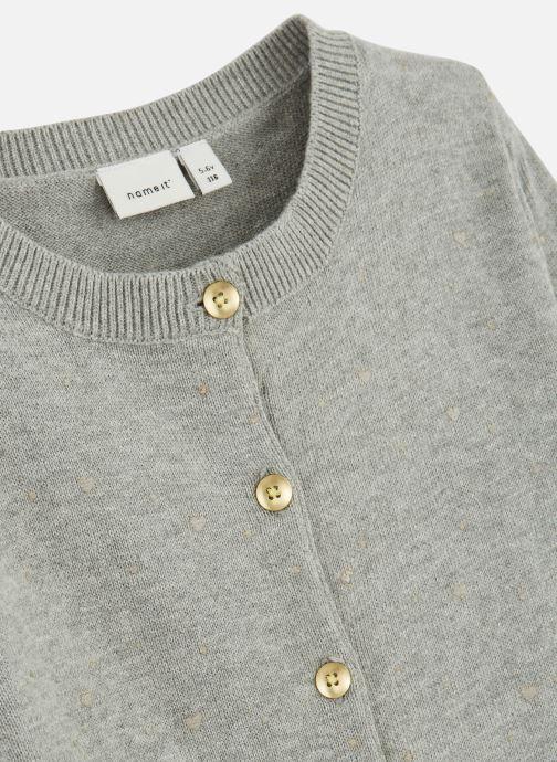 Vêtements Name it Gilet Nmfolus Ls Knit Card Gris vue portées chaussures