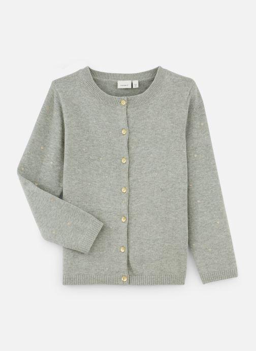 Vêtements Name it Gilet Nmfolus Ls Knit Card Gris vue détail/paire