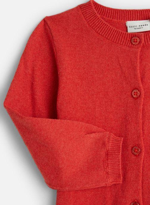 Tøj Name it Gilet Nmfvernaya Ls Knit Card Rød se skoene på