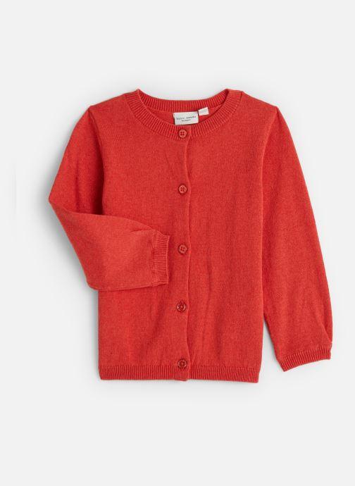 Tøj Name it Gilet Nmfvernaya Ls Knit Card Rød detaljeret billede af skoene
