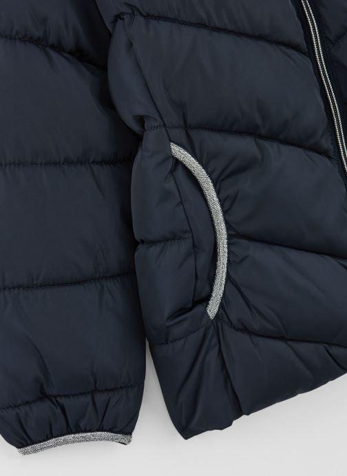 Vêtements Name it Doudoune Nmfmus Puffer Jacket Camp Bleu vue portées chaussures