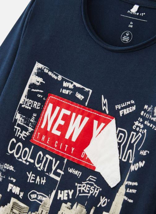 Vêtements Name it T-Shirt Nmmkiddo Ls Top Bleu vue portées chaussures