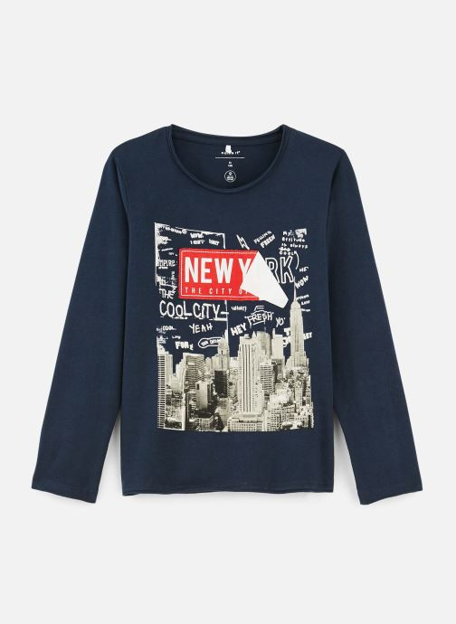 Vêtements Name it T-Shirt Nmmkiddo Ls Top Bleu vue détail/paire