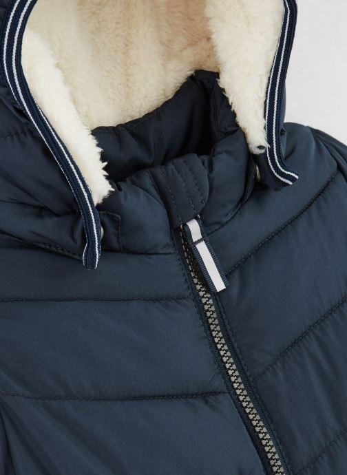 Vêtements Name it Doudoune Nmmmus Puffer Jacket Camp Bleu vue portées chaussures
