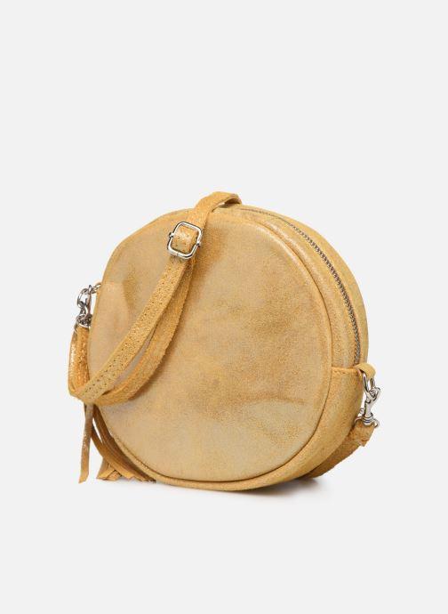 Bolsos de mano Georgia Rose Mouna Leather Amarillo vista del modelo