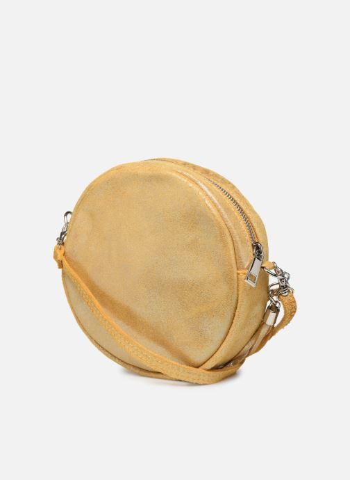 Bolsos de mano Georgia Rose Mouna Leather Amarillo vista lateral derecha