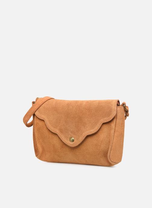 Handtassen Georgia Rose Mifesta Leather Bruin model