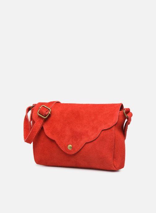 Bolsos de mano Georgia Rose Mifesta Leather Rojo vista del modelo